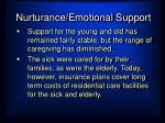 nurturance emotional support