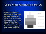 social class structures in the us