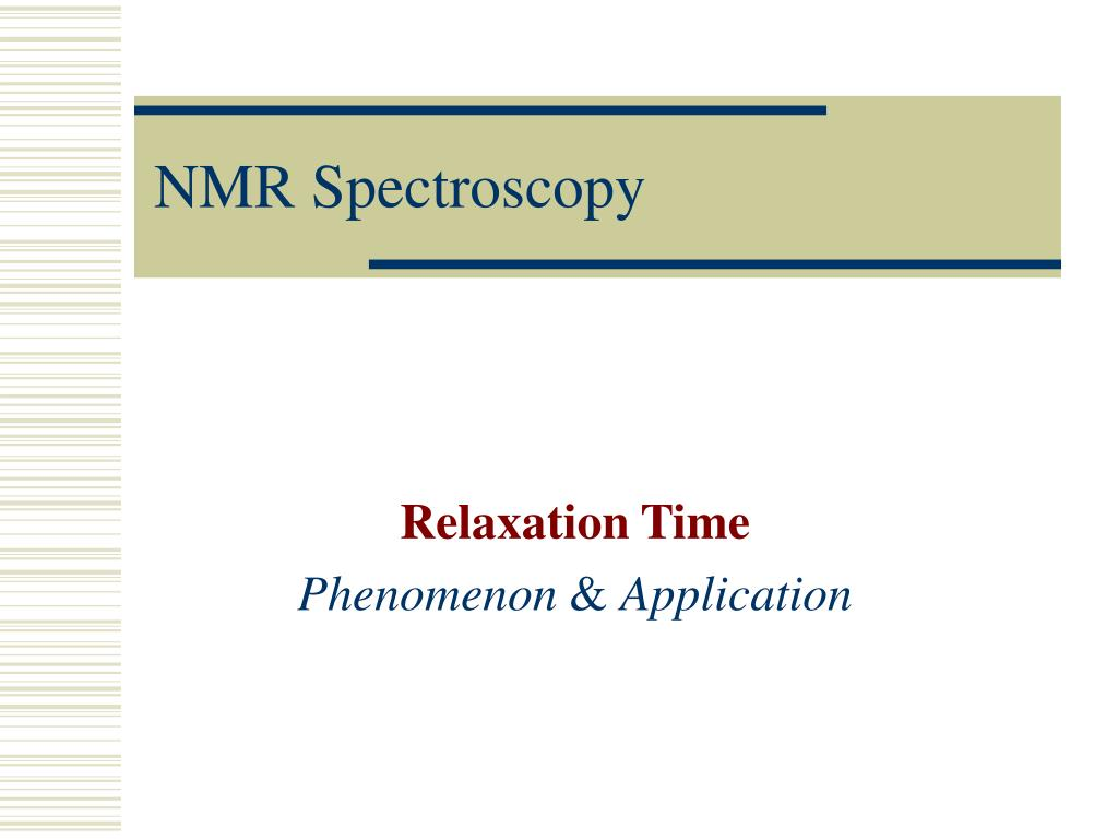 nmr spectroscopy l.