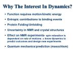 why the interest in dynamics