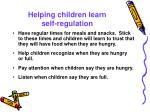 helping children learn self regulation