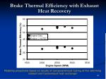 brake thermal efficiency with exhaust heat recovery