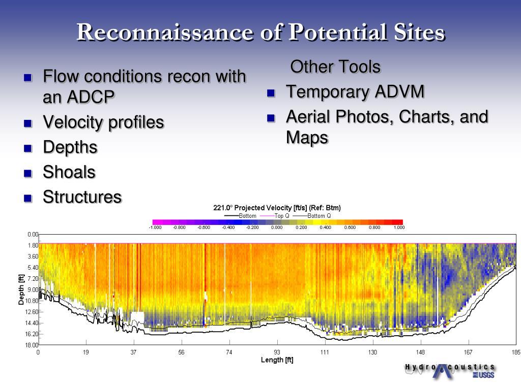 Reconnaissance of Potential Sites