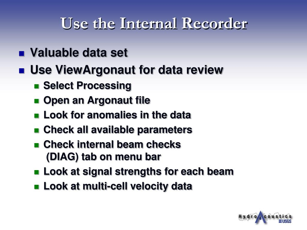 Use the Internal Recorder