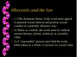 obscenity and the law