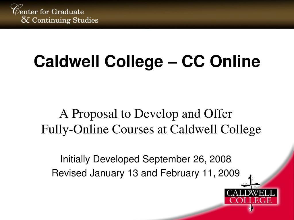 caldwell college cc online l.