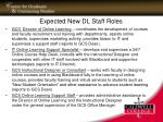 expected new dl staff roles