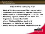 initial online marketing plan