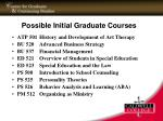 possible initial graduate courses