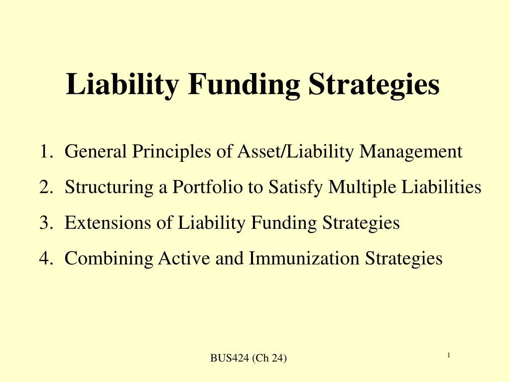 liability funding strategies l.