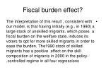 fiscal burden effect
