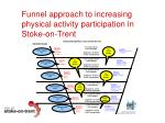 funnel approach to increasing physical activity participation in stoke on trent