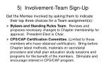 5 involvement team sign up