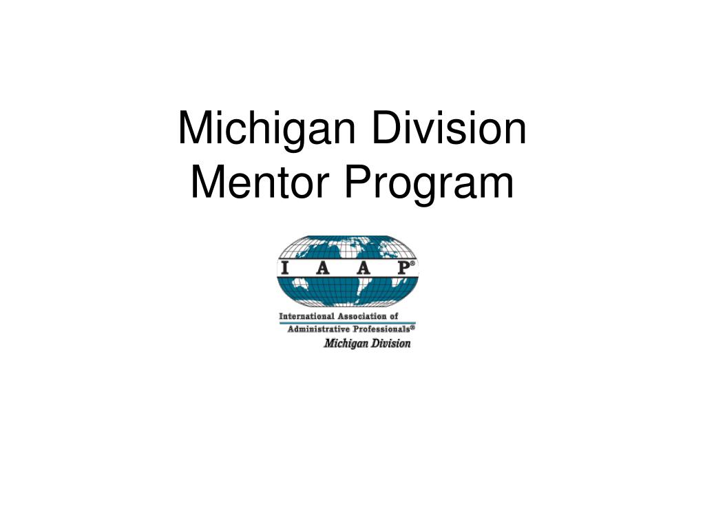 michigan division mentor program l.