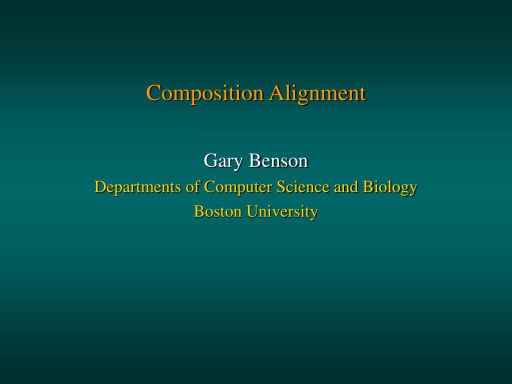 composition alignment l.
