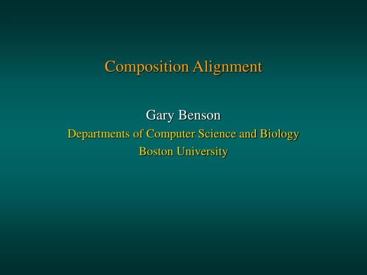 Composition alignment