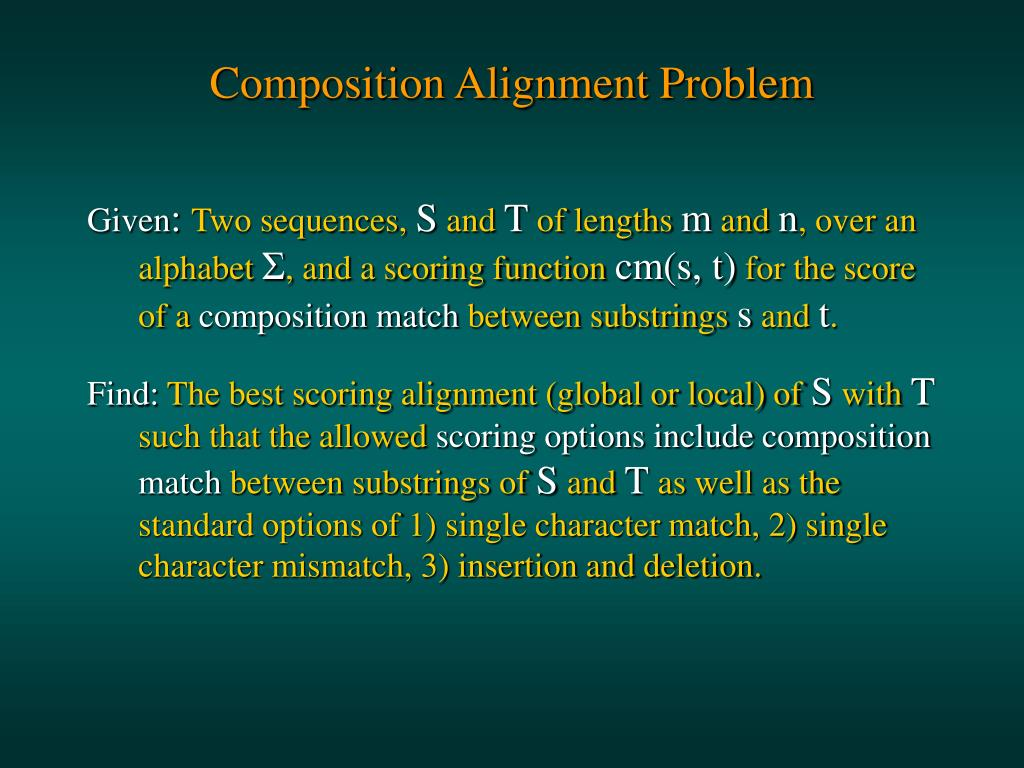 Composition Alignment Problem