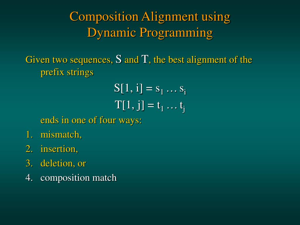 Composition Alignment using