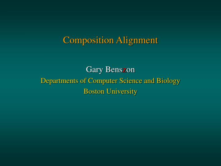 Composition alignment2