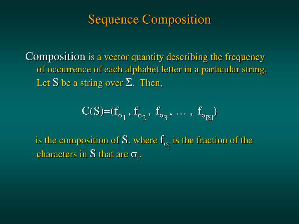 Sequence Composition