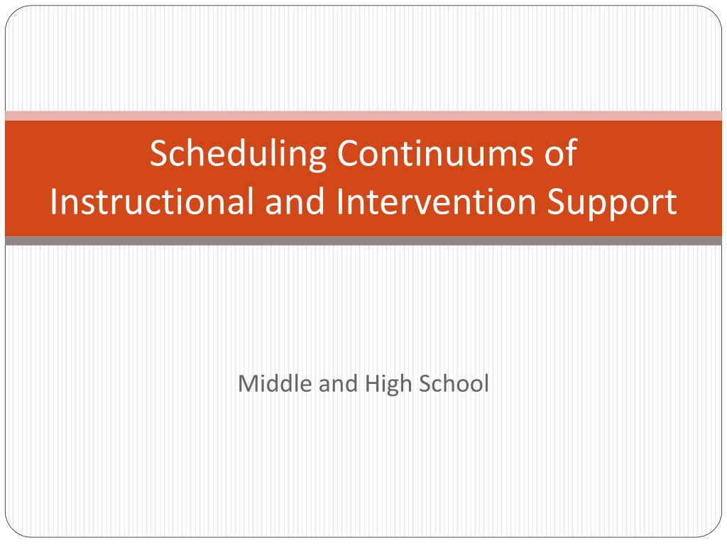 scheduling continuums of instructional and intervention support l.