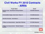 civil works fy 2010 contracts arra