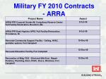 military fy 2010 contracts arra