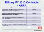 military fy 2010 contracts arra23
