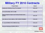 military fy 2010 contracts26