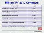 military fy 2010 contracts33