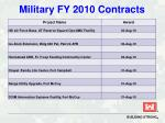 military fy 2010 contracts35
