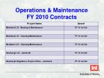 operations maintenance fy 2010 contracts43