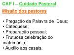cap i cuidado pastoral