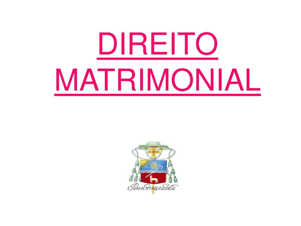 direito matrimonial l.