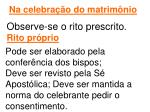 na celebra o do matrim nio