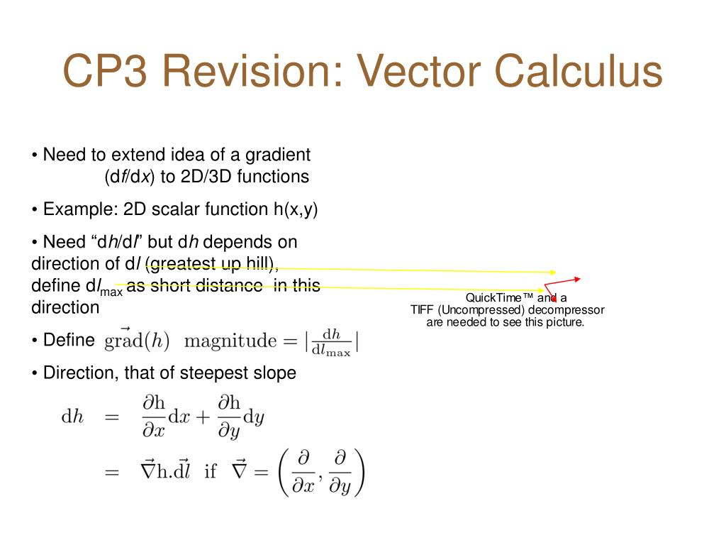 cp3 revision vector calculus l.