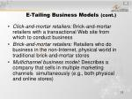 e tailing business models cont12