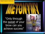 only through the sweat of your brow can you achieve success