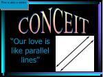 our love is like parallel lines