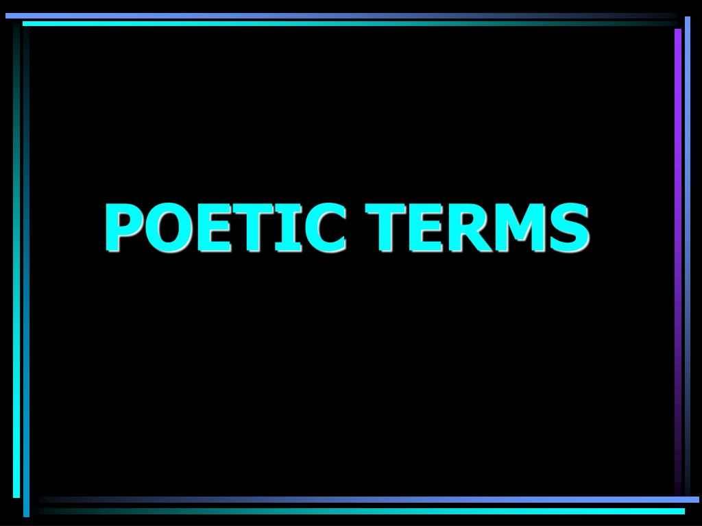 poetic terms l.