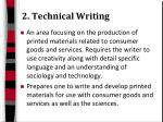 2 technical writing