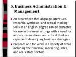 5 business administration management