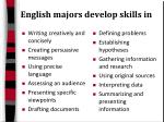english majors develop skills in