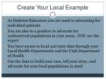 create your local example