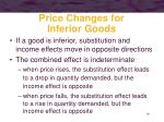 price changes for inferior goods