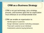 crm as a business strategy