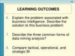 learning outcomes33