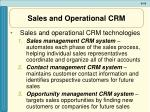 sales and operational crm19
