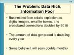 the problem data rich information poor