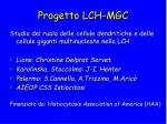 progetto lch mgc
